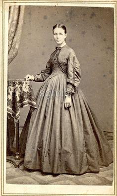 Victorian Era, Victorian Fashion, Vintage Fashion, Historical Costume, Historical Dress, Civil War Fashion, Vintage Ladies, Vintage Woman, Tintype Photos