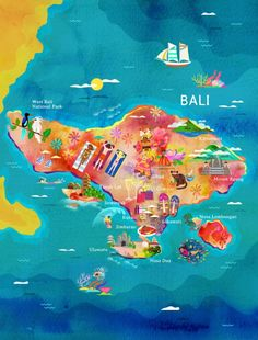 You can see all the hotspots of Bali on this amazing painting! www.travelling-bali.com