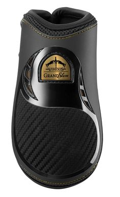 Gold edition boot  Double ventilation  3D mesh ducted fabric  Microperforated neoprene AEROX  Fetlock protection in carbon + nitrexgel  Quick-release tip  Anatomically-shaped shell  VEREDUS  GRAND SLAM CARBON GEL FETLOCK BOOT