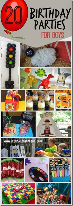 20 Birthday Parties for Boys - super cute and clever birthday party themes for kids!