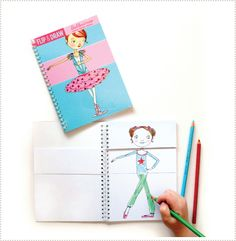 Tuesday Mourning for Mudpuppy: ballernina Flip Draw book - Adorable!