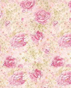 Beige à grosse rose rose