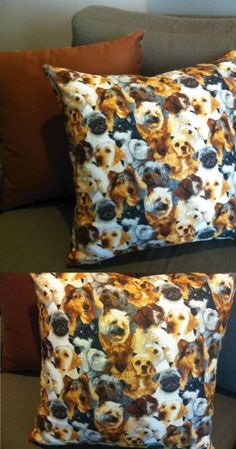 Almofada cachorros pintura - Maria Fina