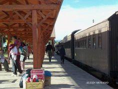 Tren a vapor Trochita en El Maiten,Chubut.
