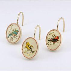 Avanti Linens Gilded Birds Shower Curtain Hooks