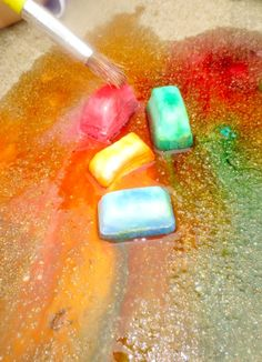 Recipe for homemade ice chalk. Great for summer :)