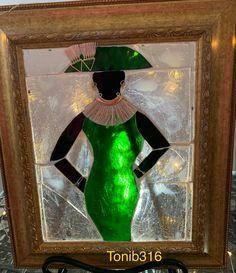 Tonib316 Mosaic Art, Green Dress, Black Women, Painting, Green Gown, Painting Art, Paintings, Painted Canvas, Drawings
