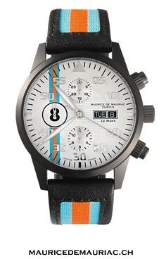Choose your lucky number for your Le Mans Racing watch, from Maurice de Mauriac. watches for men.