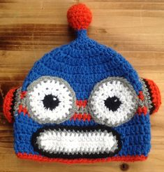 Hey, I found this really awesome Etsy listing at https://www.etsy.com/listing/449288786/crochet-baby-hat-robot-hat-baby-robot