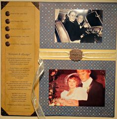 Heritage scrapbooks typically are about family and roots and are filled with just that...heritage photos. For example, a layout might include you and your spouse, your parents, your spouses parents, both sets of grandparents, and if you are really lucky:  great grand parents.