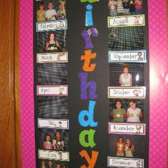 this classroom Birthday calendar idea! Classroom Setting, Classroom Setup, Classroom Displays, Future Classroom, Classroom Labels, Preschool Classroom, Classroom Organisation, School Organization, Classroom Management