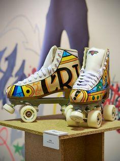Art Roller Skates by CRISIS by BCNRollerDance on Etsy https://www.etsy.com/listing/209629970/art-roller-skates-by-crisis