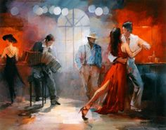 "Tango Argentino by Willem Haenraets - love the colors!  I could do a whole ""tango"" theme in my bedroom."