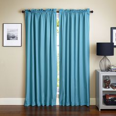Blazing Needles 108-inch by 52-inch Twill Curtain Panels
