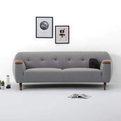 Vintage Grey Sofa - Montel #retro Onze nieuwe bank is er, wij hebben de variant met zwarte stukken, knopen en poten.