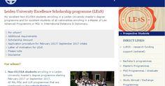 Beasiswa Master di Universitas Leiden (Belanda) ~ Merantaulah