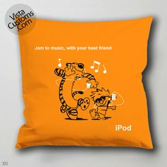 Calvin and Hobbes Ipod pillow case, cover ( 1 or 2 Side Print With Size 16, 18, 20, 26, 30, 36 inch )
