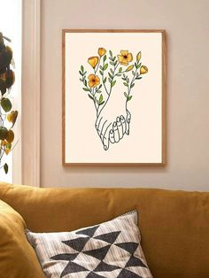 Frame Wall Decor, Frames On Wall, Framed Wall Art, Wall Art Decor, Wall Décor, Art Mural Floral, Reproductions Murales, Gold Home Decor, Affordable Wall Art