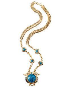 Rare Signed Egyptian Blue Nile Edgar Berebi Limited Edition Turquoise Cabochon Gold Tone Enamel Necklace by ArtsyMysticDesigns on Etsy Egyptian Jewelry, Blue Nile, Enamel, Turquoise, Pendant Necklace, Gold, Etsy, Isomalt, Polish