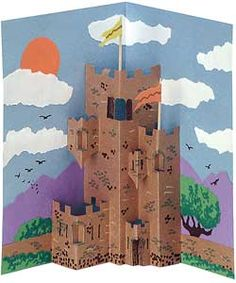 JH and CC-Castles Lesson Plan -- foldable/pop-up book could be used for other lesson plan ideas as well (Jessica Harmon)