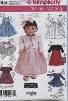 Simplicité 4364 une taille de poupée par OnceUponAnHeirloom sur Etsy