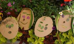 Nature faces, neighborhood walk with  craft at the end, perfect!