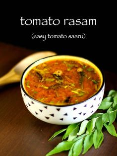 rasam recipe, tomato rasam recipe, easy tomato saaru with step by step photo/video. quick recipe for south indian rasam or thakkali rasam with rasam powder Paneer Recipes, Garlic Recipes, Curry Recipes, Quick Recipes, Indian Food Recipes, Soup Recipes, Vegetarian Recipes, Cooking Recipes, Gourmet