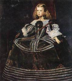 Retrato de la Infanta Margarita Diego Velazquez 1660 Oleo sobre canvas 107 x 121 cm