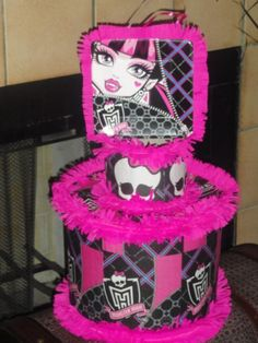 Monster High Birthday Party Pull String Pinata Game Favor