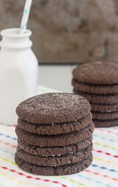 Chewy Chocolate Sugar Cookies by Traceys Culinary Adventures, via Flickr