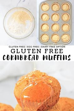 Easy Gluten Free Cornbread Muffins made in under 30 minutes. This gluten free cornbread muffin recipe makes the perfect snack or side dish to chili or your favorite comfort food recipe. Sweetened with honey and made of simple ingredients that are egg free and can easily be made dairy free. #finishedwithsalt #glutenfree #cornbread #muffins #eggfree #dairyfree #sidedish | finishedwithsalt.com Healthy Cornbread, Gluten Free Cornbread, Cornbread Muffins, Dog Muffin Recipe, Muffin Recipes, Bread Recipes, Gluten Free Baking, Gluten Free Recipes, Dairy Free Options