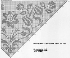 Blumenzählmuster für Dreiecktuch