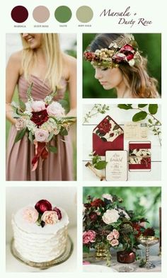 Marsala + Dusty Rose color theme for wedding