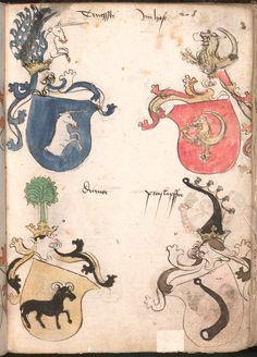 Wernigeroder (Schaffhausensches) Wappenbuch Süddeutschland, 4. Viertel 15. Jh. Cod.icon. 308 n  Folio 208r