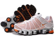 the latest 1efb8 38f49 Find Women s Nike Shox TL Shoes White Orange Silver Lastest online or in  Pumarihanna. Shop Top Brands and the latest styles Women s Nike Shox TL  Shoes ...