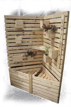 Corner Vertical Crate Planter Kit