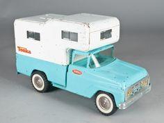 Blue Tonka Toy Truck Camper
