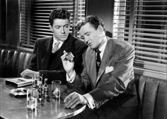 Strangers On A Train - Guy Haines (Farley Granger) & Bruno Antony (Robert Walker)