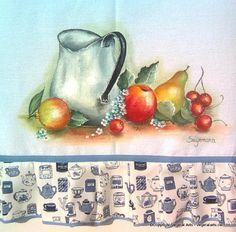 pintura de pascoa em pano de prato - Pesquisa Google