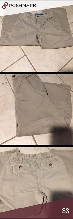 The Children's Place Khaki Pants The Children's Place Khaki Pants..Size 5 with adjustable waist. Slight wear on bottom of one leg as shown in last picture. Children's Place Bottoms