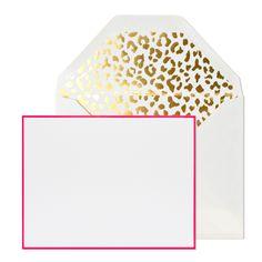 MadeByGirl: Gold Leopard Pink Note Set