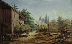 """Barnyard in Pennsylvania"" by Edward Lamson Henry, 1859-60"
