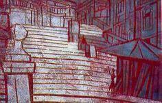 """""""Лестница в Риме"""" -  1965 - Тадасигэ Оно Painting, Inspiration, Art, Biblical Inspiration, Art Background, Painting Art, Kunst, Paintings, Performing Arts"""