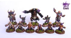 Chaos dwarves team blood bowl