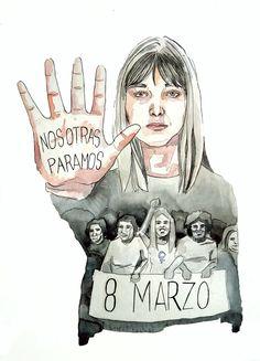 Una iniciativa, en consonancia con la Marcha de las Mujeres, recoge ilustraciones de artistas españoles para reivindicar el paro en el Día de la Mujer.
