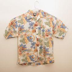 cc543e101 TOMMY BAHAMA Relax 100% Rayon Hawaiian Floral Camp Shirt Mens Size L   fashion