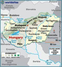 map of Budapest, Hungary