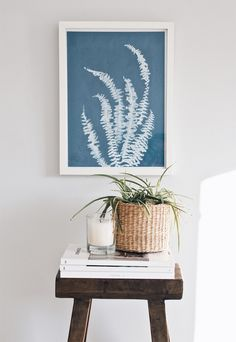 Plant prints made with photosensitive paper | Urban Jungle Bloggers | These Four Walls blog