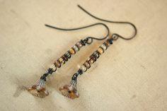 Long Czech Glass Flower Sticks by Sparrowtaledesign on Etsy