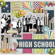 School Themed Scrapbook Layouts | 12X12 layouts | Scrapbooking Ideas | Creative Scrapbooker Magazine #school #scrapbooking #12X12layout